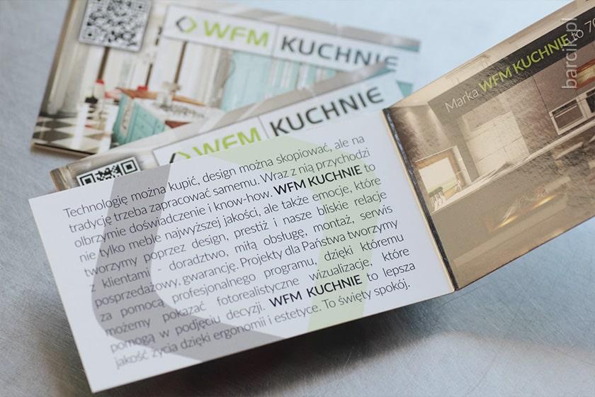 Karnet podwójny, wizytówki składane po krótkim boku do formatu 50 x 90 mm, kreda 350g + folia błysk dwustronnie | barcik.pl