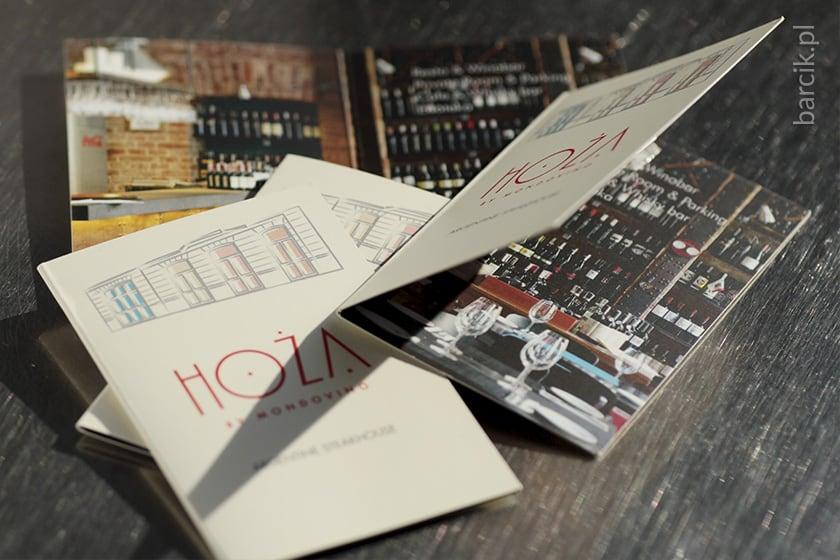 Wizytówki składane po długim boku do 85 x 55 mm, karnet bigowany podwójny, kreda mat + folia mat dwustronnie | barcik.pl