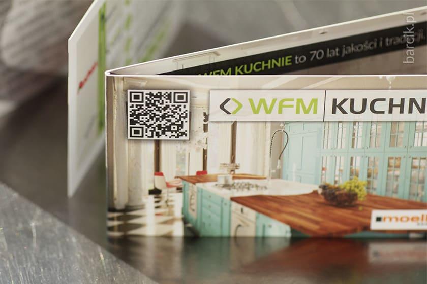 Wizytówki składane po krótkim boku do formatu 50 x 90 mm, karnet podwójny kreda 350g + folia błysk dwustronnie | barcik.pl