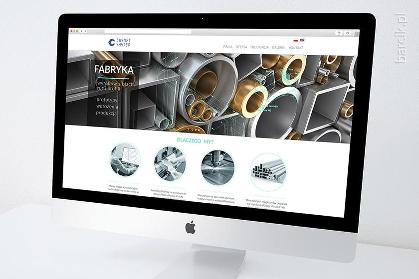 Web design - strona startowa witryny firmowej | casmet-system.pl