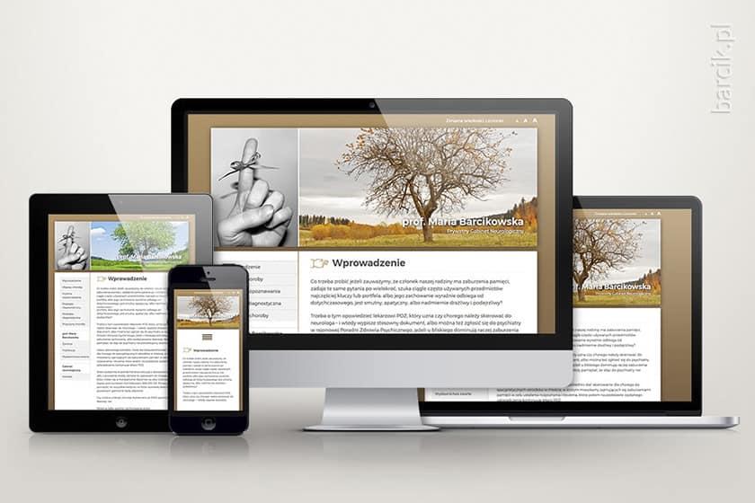 Responsywność - automatyczne dostosowywanie się strony do szerokości ekranów urządzeń mobilnych | profesorbarcikowska.pl