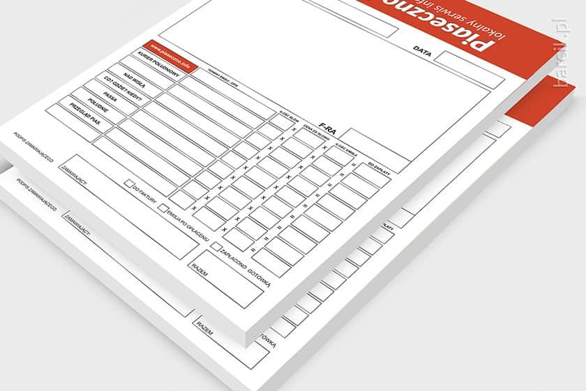 Notesy firmowe klejone po krótkim boku, bloczek 50 kartek, A5, offset 90g, zadruk jednostronny, w/g skali Pantone, druk zamówienia | barcik.pl
