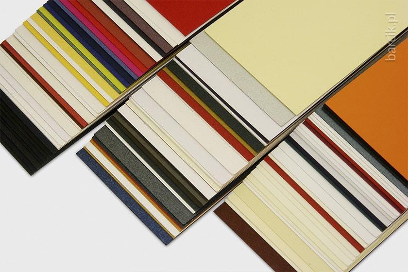 Papiery ozdobne do druku wizytówek, różne kolory i rodzaje