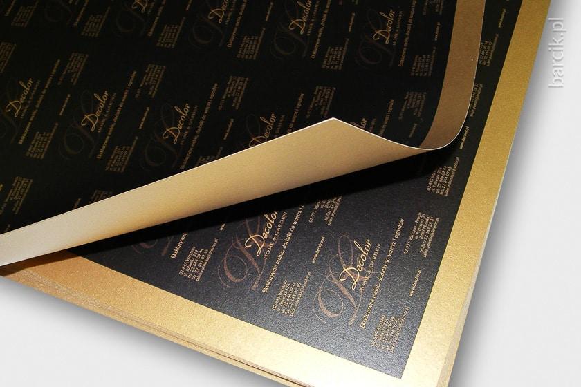Arkusz druku wizytówek w kontrze na kartonie ozdobnym STARDREAM Antyczne Złoto