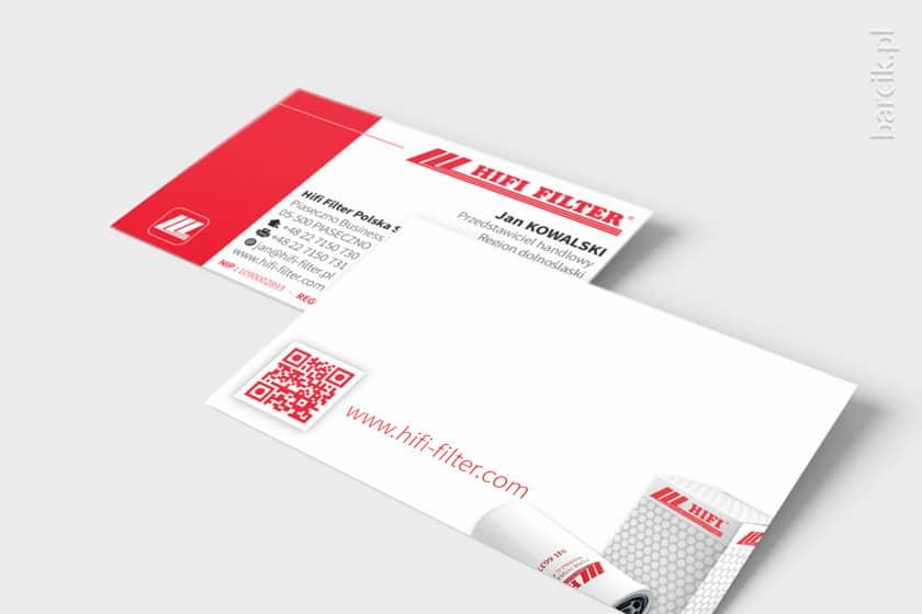 Dwustronna wizytówka designerski rewers z QR code i miksem informacji