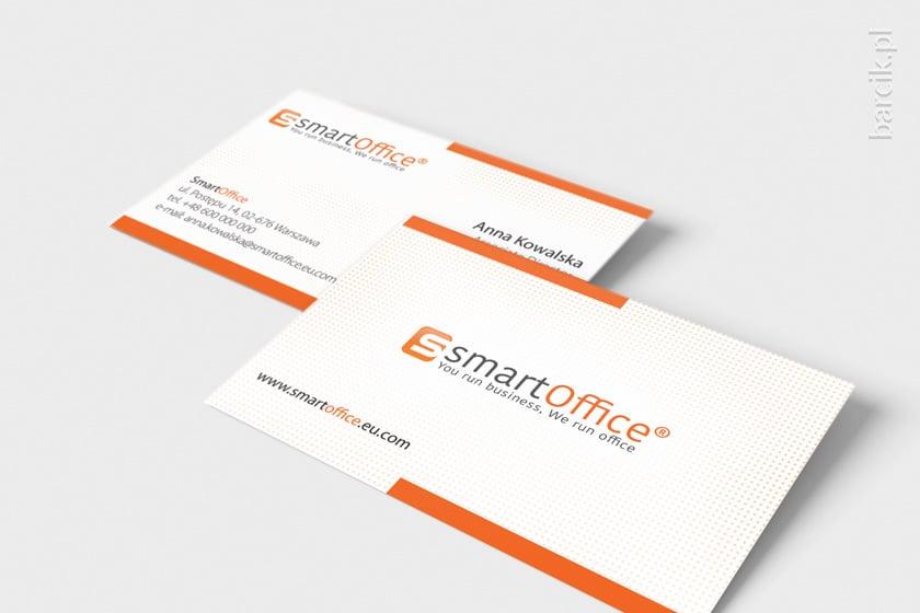 Klasyczny i elegancki design dwustronnej wizytówki firmowej