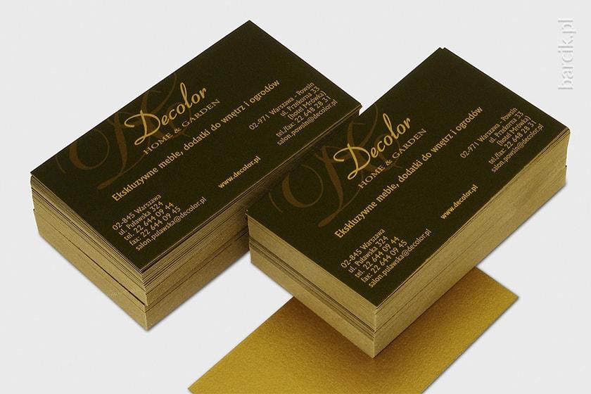 Wizytówki druk cyfrowy na kartonie ozdobnym STARDREAM Antyczne Złoto