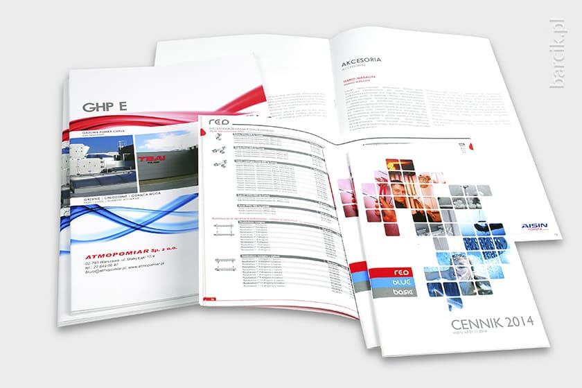 Firmowe katalogi szyte A4 i A5