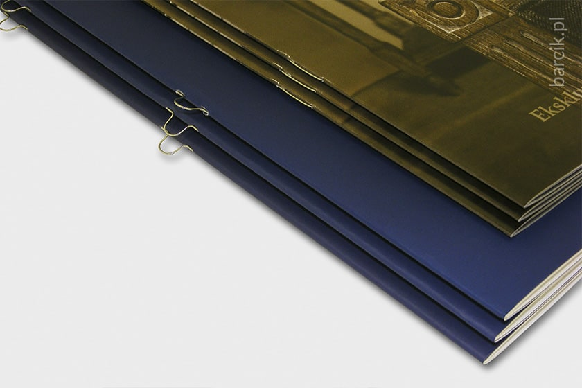 Katalogi, szycie zeszytowe płaskie i oczkowe