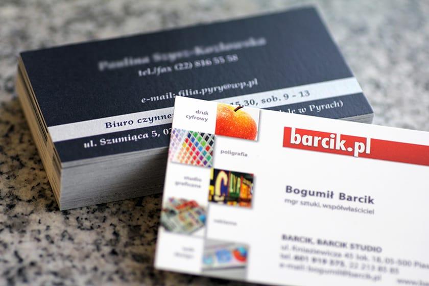 Barcik Studio Piaseczno, wizytówki ekspresowe, foliowane i premium
