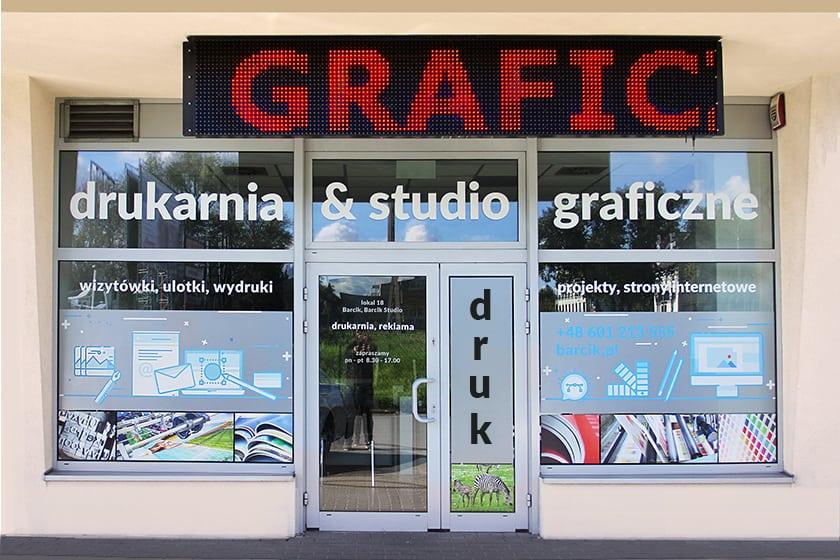 Barcik Studio Piaseczno, ul. Kniaziwewicza 45 lok. 18, tel. 601 213 555, drukarnia poleca Wizytówki Premium