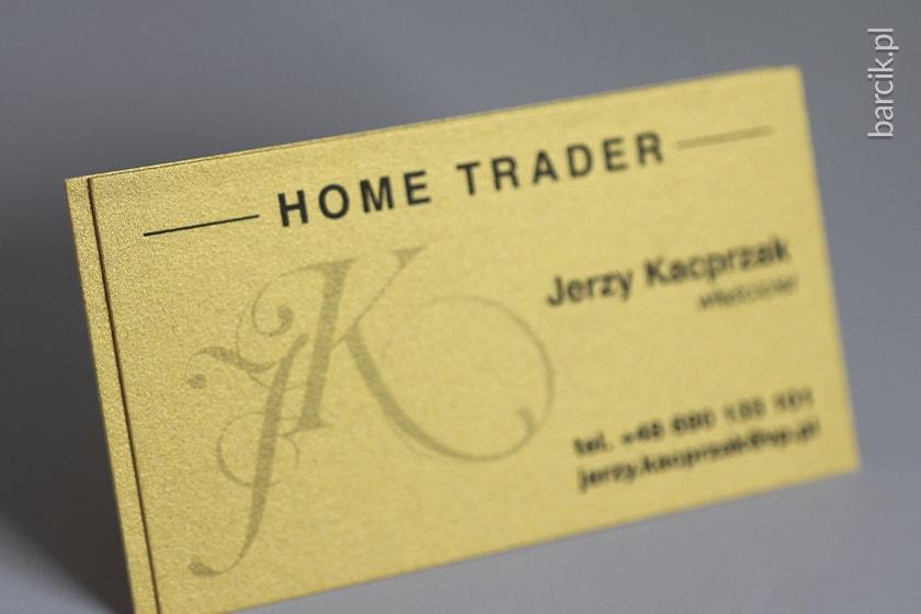 Wizytówka na złotym papierze STARDREAM Gold 285g