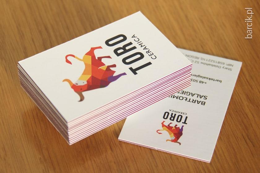 Wizytówka wielowarstwowa 55 x 85 mm z kolorowym insertem wybranym spośród 12 kolorowych kartonów