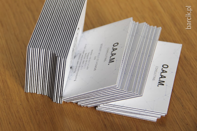Wizytówki multiloft, sklejka 4 warstwowa daje wizytówkę o gramaturze 1250 g