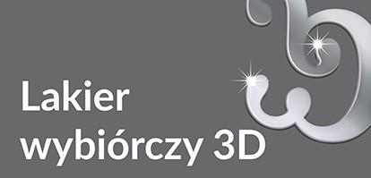 Wizytówki z lakierem wybiórczym 3D