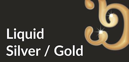 Wizytowki z Liquid Gold Silver