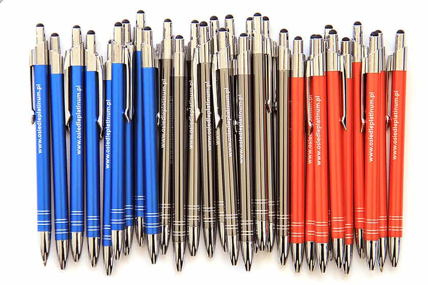 Metal pens with your company logo are an ideal Client gift