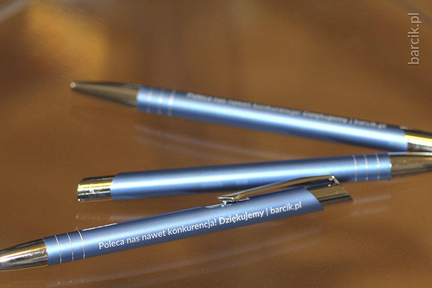 High-precision laser engraving guarantees excellent quality of pens