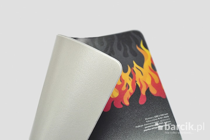 Anti-slip foam prevents the mat from moving