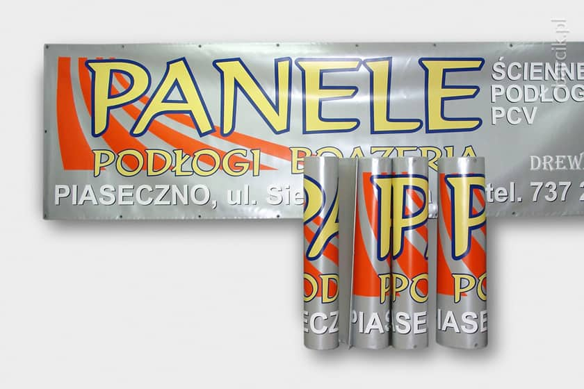 Use of self-adhesive foil enables modifying banner's design in the future (e.g. update address or phone number)