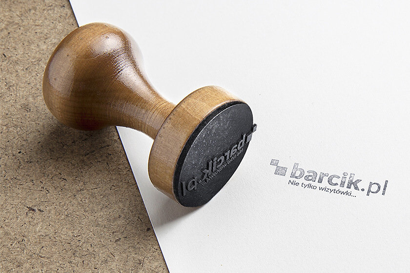 Traditional wooden stamps have a unique elegant look